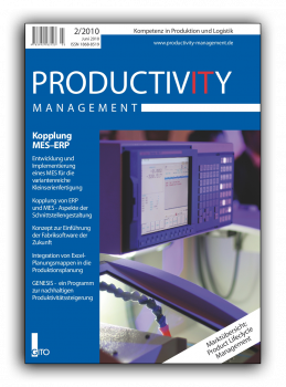 Kopplung MES - ERP (Productivity Management 2/2010)